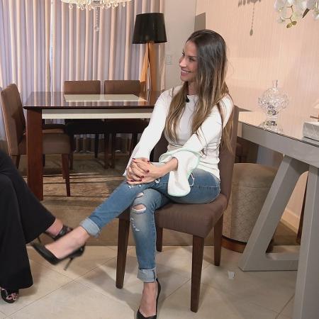 Ex-panicat Lizi Benites admite ter tomado anabolizantes   - Divulgação/TV Record