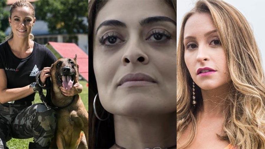 Jeiza (Paolla Oliveira), Bibi (Juliana Paes) e Carine (Carla Diaz) - Montagem/UOL