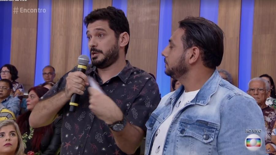 """Ao vivo, no """"Encontro"""", Repórter André Curvello surpreende Fátima Bernardes e ela responde ao elogio - Reprodução/TV Globo"""