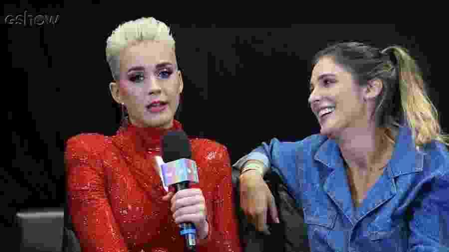 """Katy Perry dá entrevista para Rafa Brites no """"Vídeo Show"""" - Reprodução/GShow"""