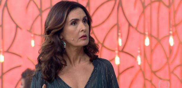 """Fátima Bernardes levou um susto durante o """"Encontro"""""""