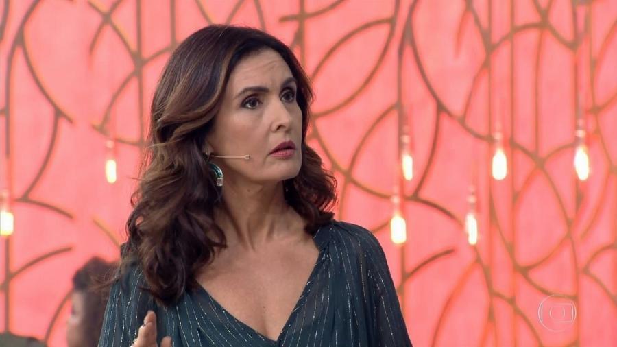 """Fátima Bernardes levou um susto durante o """"Encontro"""" - Reprodução/TV Globo"""