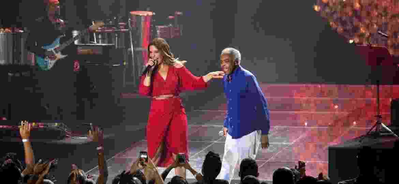 Ivete Sangalo e Gilberto Gil cantam juntos na inauguração oficial do Allianz Parque Hall em São Paulo - João Franco/Divulgação