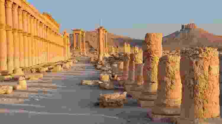 Sítio arqueológico de Palmira, na Síria - Getty Images - Getty Images