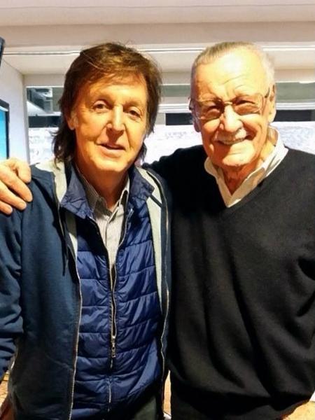 Paul McCartney e Stan Lee - Reprodução/Twitter