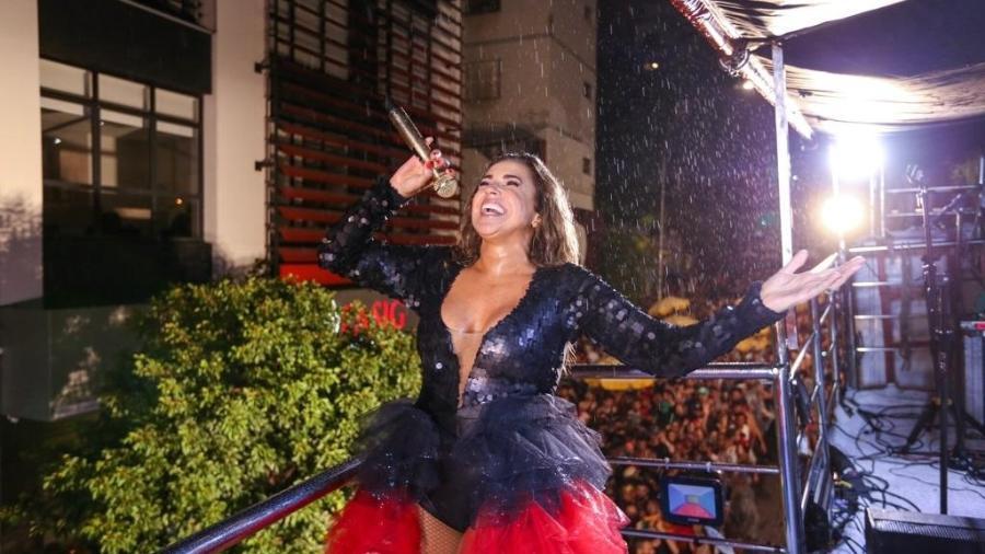 Debaixo de chuva, Bloco de Daniela Mercury, Pipoca da Rainha, encerra Carnaval 2019 em São Paulo - Marcelo Justo/UOL