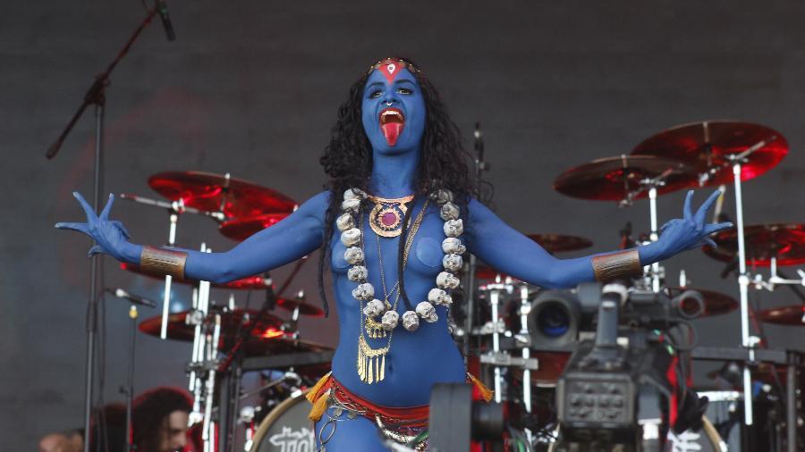 Maha Kali, deusa hindu, no Rock In Rio 2019 - AGATHA GAMEIRO/FRAMEPHOTO/ESTADÃO CONTEÚDO