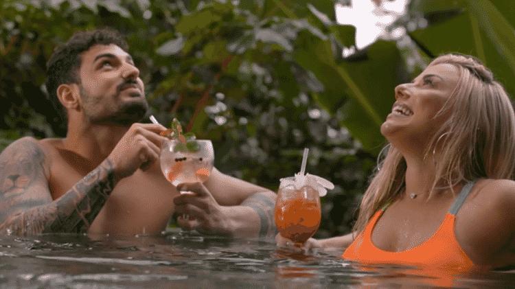 João e Marcelle; os dois ficaram em um date e Lipe ficou mordido de ciúmes - Divulgação/MTV