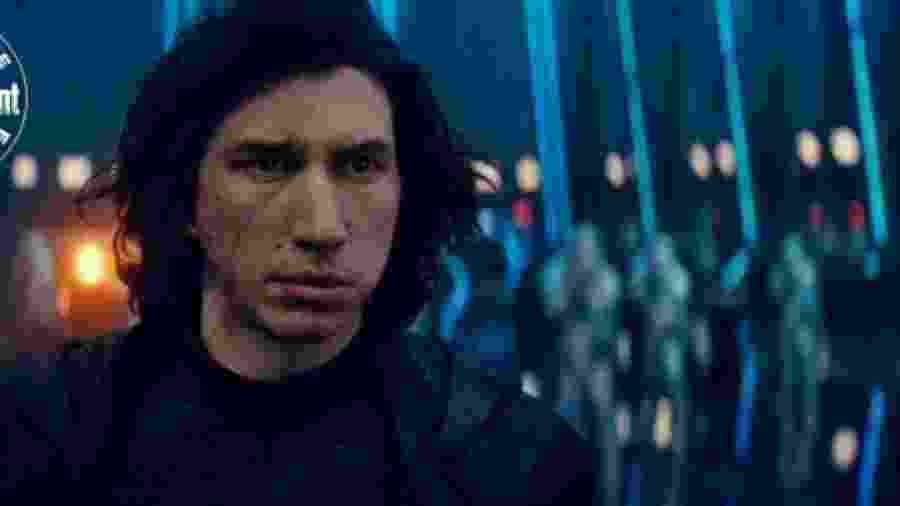 Adam Driver em cena de Star Wars: A Ascensão Skywalker - Divulgação/EW