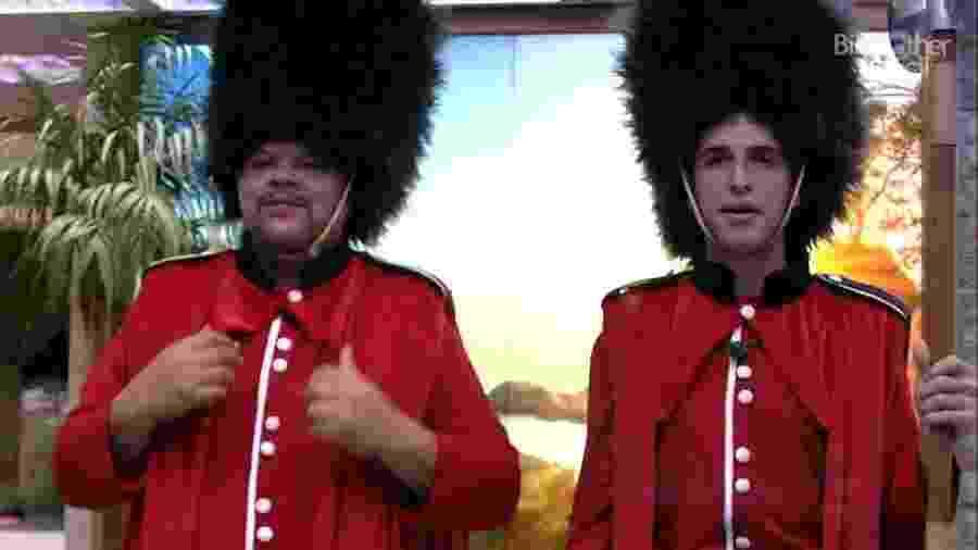 BBB 20 - Babu e Felipe com fantasia - Reprodução/Globoplay