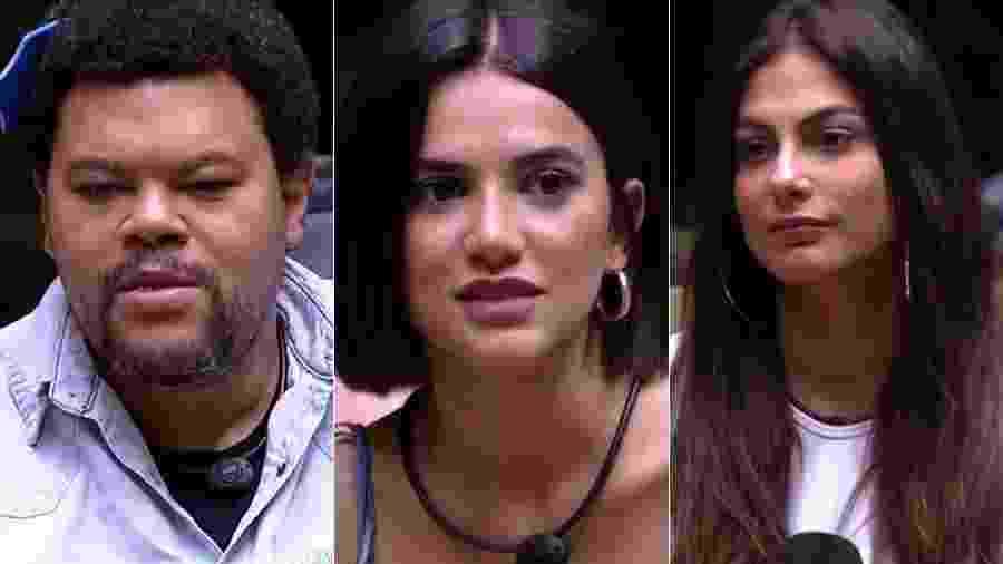 Babu, Manu e Mari estão no paredão - Reprodução/TV Globo