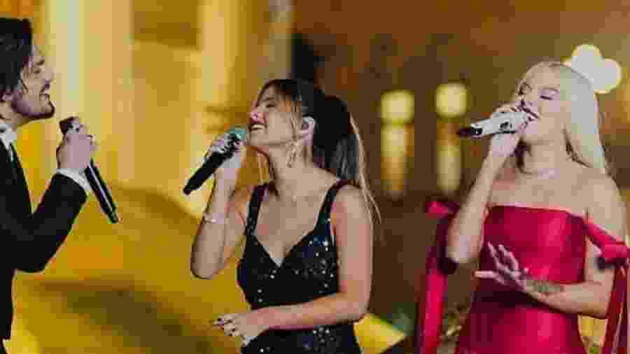Luan Santana, Giulia Be e Luísa Sonza cantam juntos em live - Reprodução/Instagram