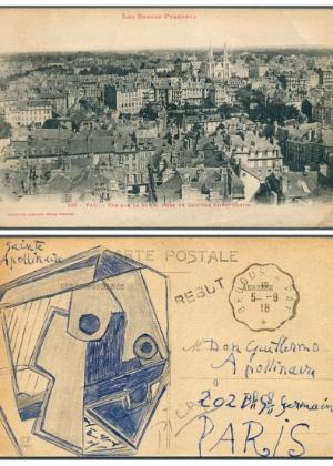 Carão postal com desenho de Picasso foi vendido por 166 mil euros - AFP Photo/Auktionshaus Christoph Gärtner GmbH & Co