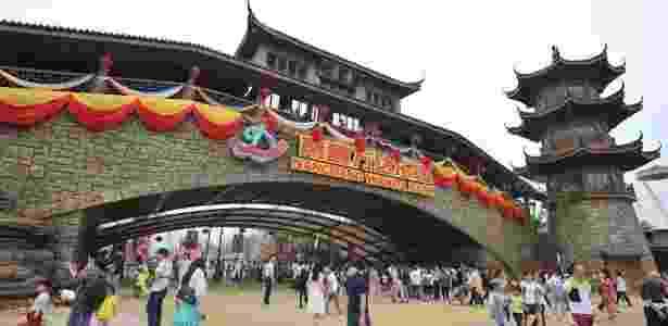 O parque teve investimento de R$ 10,5 bilhões de grupo imobiliário chinês - AFP