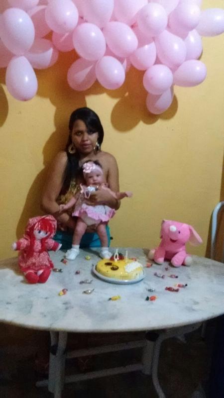 Michele comemora o primeiro mêsversário da filha, Maisa - Arquivo Pessoal