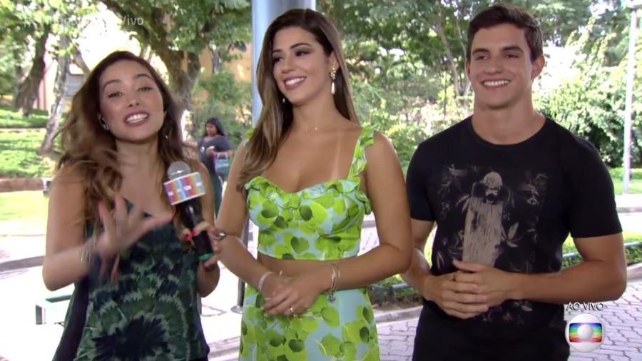 """Ex-BBBs Vivian e Manoel participam do """"Vídeo Show"""" - Reprodução/Globo"""