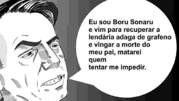 Jair Bolsonaro, representado pelo espadachim Boru Sonaru - Divulgação - Divulgação