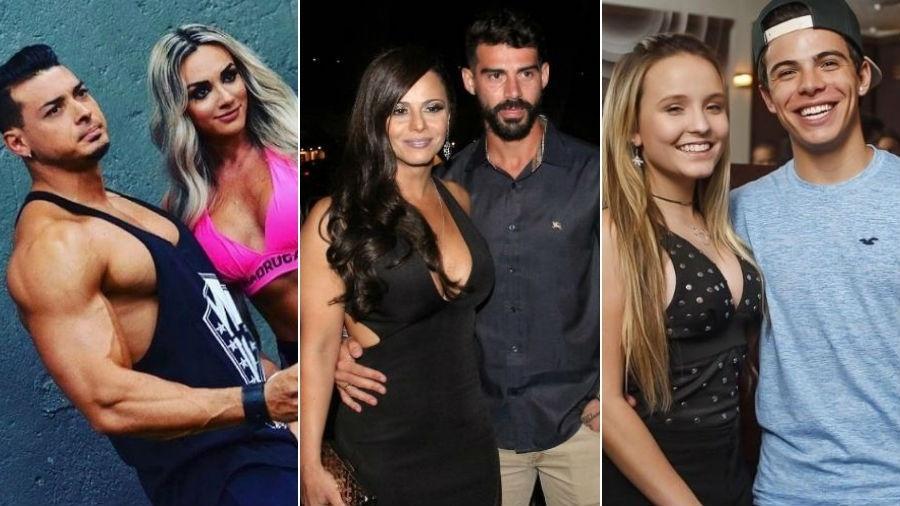 Juju Salimeni, Viviane Araújo e Larissa Manoela foram algumas das famosas que terminaram seus relacionamentos no último mês - Fotomontagem/UOL