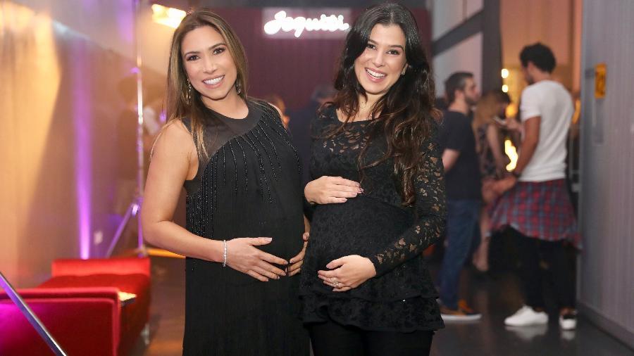Patricia Abravanel e a irmã, Renata, posam grávidas em evento da Jequiti, marca de cosméticos de Silvio Santos - Manuela Scarpa/Brazil News