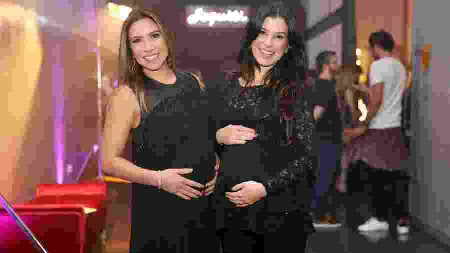Patricia Abravanel ao lado da irmã, Renata, que deu à luz sua primeira filha - Manuela Scarpa/Brazil News