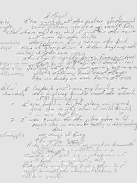 "Manuscrito de ""Born to Run"", do cantor Bruce Springsteen - Sotheby""s"