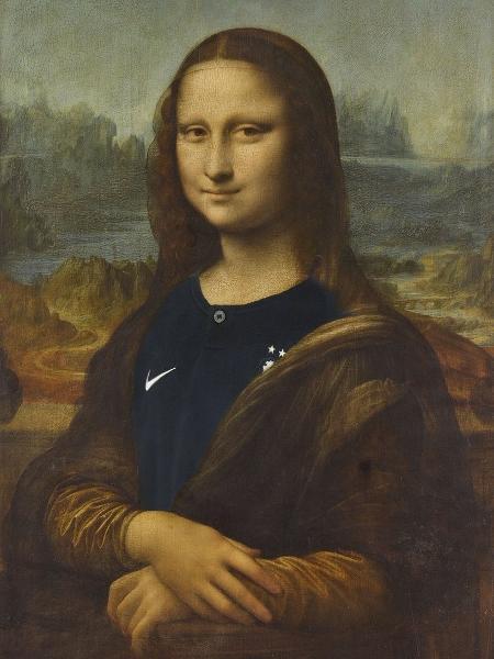 Monalisa com a camisa da França - Reprodução/Twitter