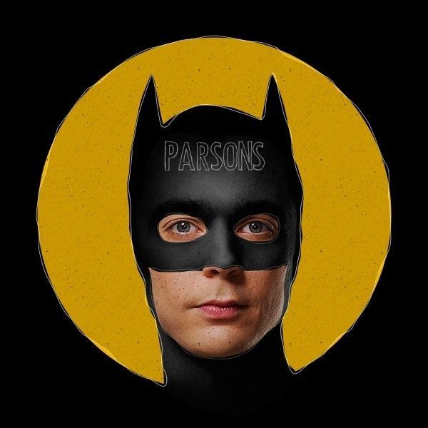 """Outra série famosa foi colocar famosos com a máscara do Batman, como Jim Parsons, de """"The Big Bang Theory"""", e Elvis Presley"""