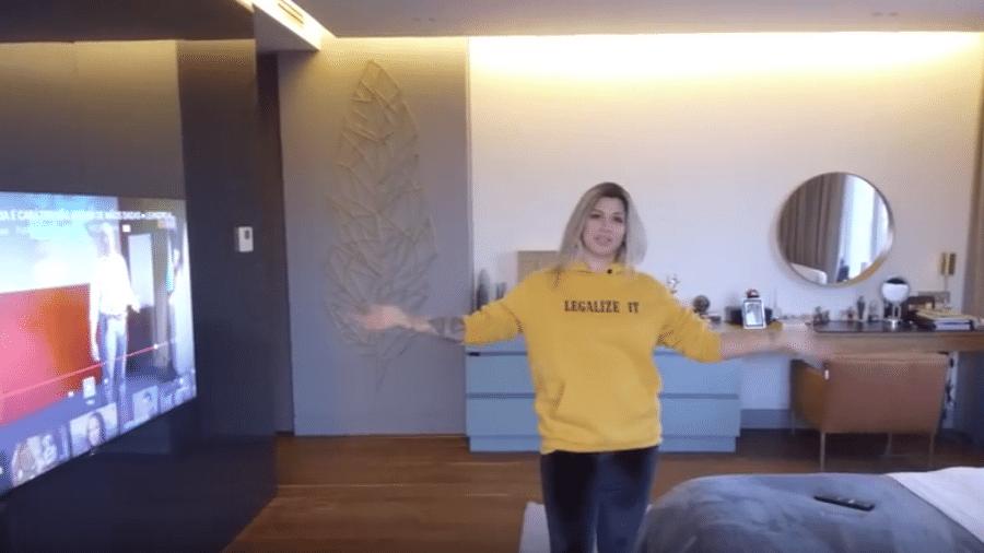 Dani Souza em seu novo apartamento na Ucrânia - Reprodução/Instagram