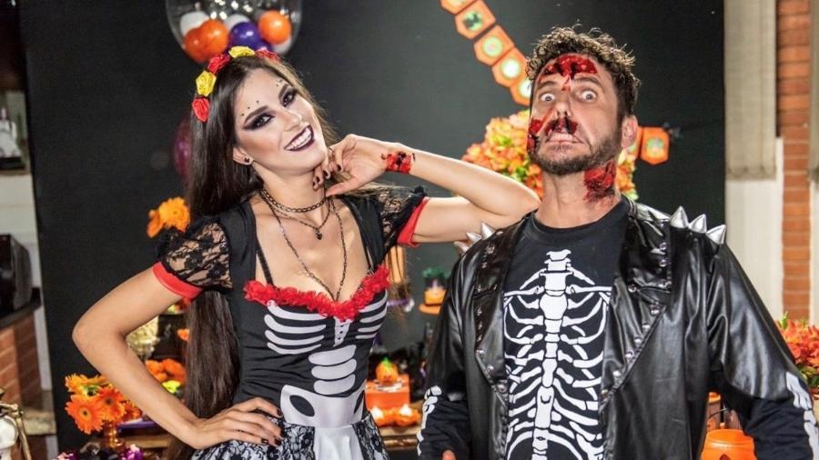 Thayra Cadorini ao lado do marido, Hudson - Paulo Pedron/Divulgação