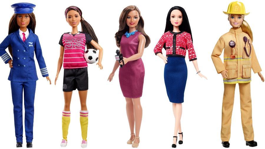 No ano passado, a boneca Barbie ganhou novas profissões, como jornalista e piloto de avião - Divulgação