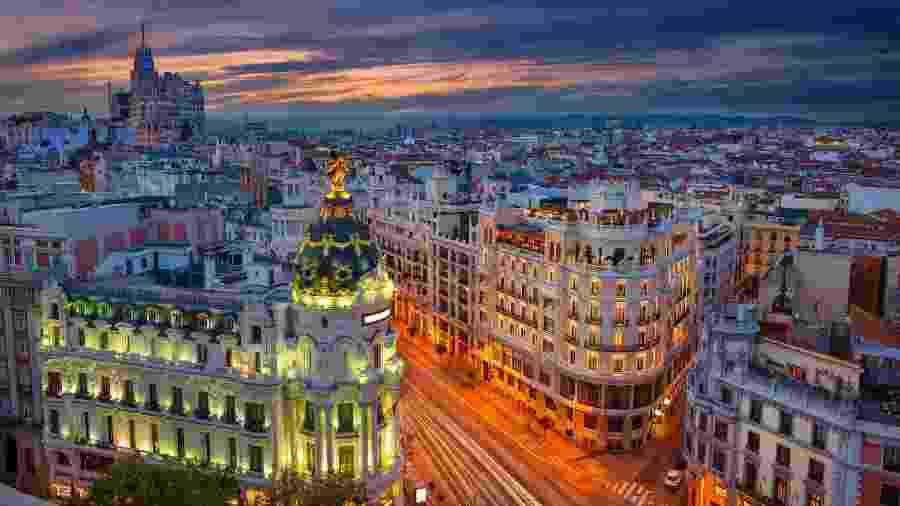 Vista da cidade de Madri, na Espanha - RudyBalasko/Getty Images/iStockphoto