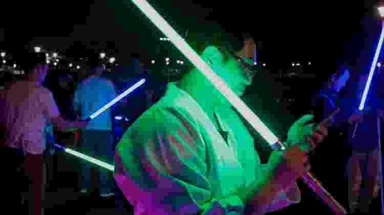 """Fãs de """"Star Wars"""" se reúnem em Twain  - Sam YEH/AFP"""