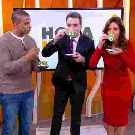 Monalisa Perrone toma café com mistura exótica no Hora 1 - Reprodução/TV Globo
