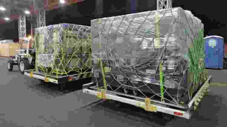 Ao todo, 375 toneladas de peças de som e iluminação chegaram a Campinas - Imprensa Viracopos - Imprensa Viracopos