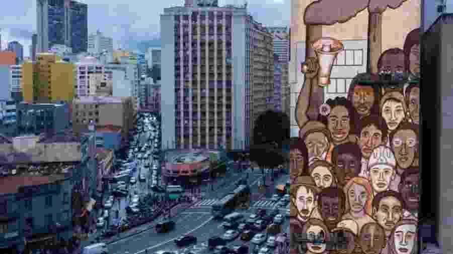 """Grafite """"Operários de Brumadinho"""", de Mundano, homenageia vítimas da tragédia em São Paulo - Reprodução/Instagram"""
