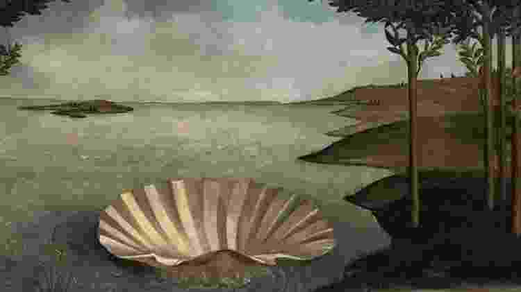 """""""Lugar para um nascimento"""", reinterpretação de """"O nascimento de Vênus"""", de Sandro Botticelli - Twitter/José Manuel Ballester - Twitter/José Manuel Ballester"""