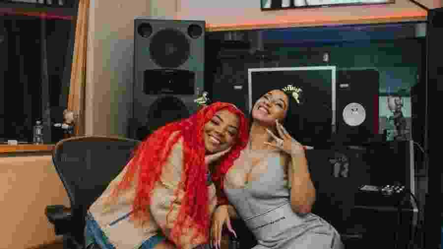 Ludmilla e Cardi B em estúdio de Los Angeles - Reprodução/Instagram