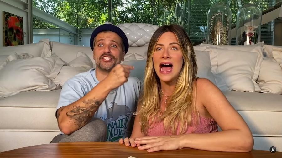 Bruno Gagliasso e Giovanna Ewbank em conversa com Larissa Manoela e Leo Cidade  - Reprodução/Instagram