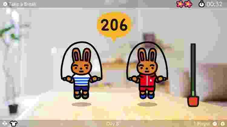 Jump Rope Challenge modo co-op - Divulgação/Nintendo - Divulgação/Nintendo