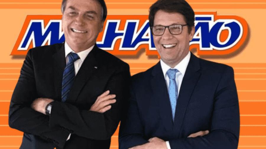 Jair Messias Bolsonaro e Mário Frias  - Reprodução/Montagem