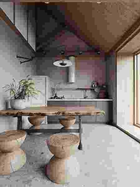 Elementos naturais e paleta monocromática propõe simplicidade - Reprodução/Pinterest - Reprodução/Pinterest