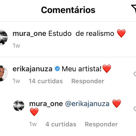 Erika Januza e Juan Nakamura trocam declarações nas redes sociais - Reprodução/Instagram - Reprodução/Instagram