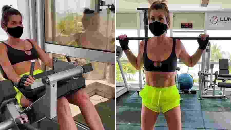 Flávia Alessandra compartilha treino com seus seguidores - Reprodução/ Instagram