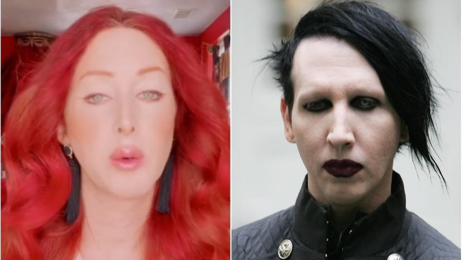 A estilista Love Bailey e o cantor Marilyn Manson: acusações de agressão - Reprodução/Instagram
