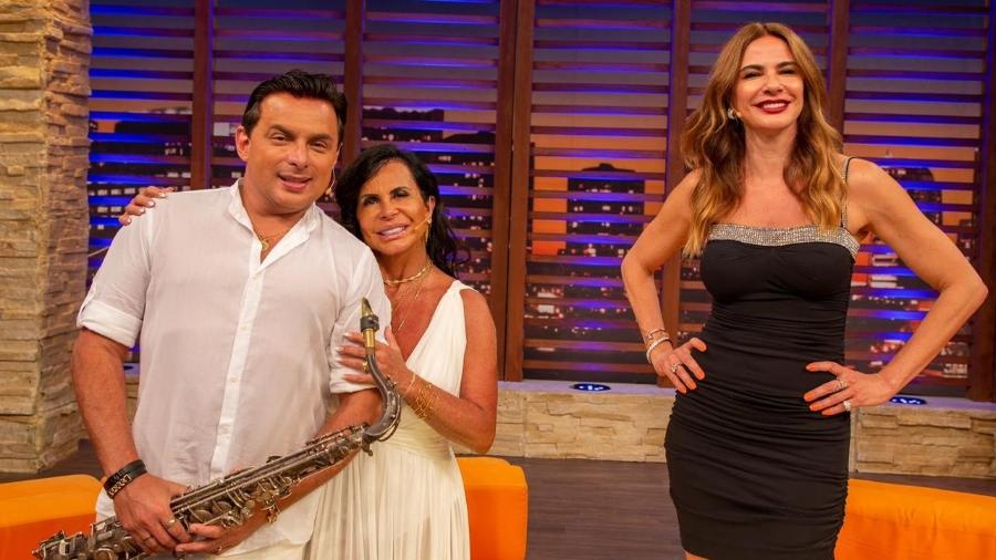 """Gretchen e Esdras de Souza participaram do programa """"Luciana By Night"""", de Luciana Gimenez - Wellington Marques/Divulgação"""