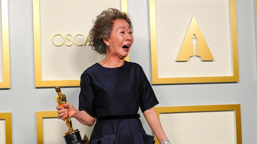 """Youn Yuh-jung venceu o Oscar por """"Minari"""" - Getty Images"""
