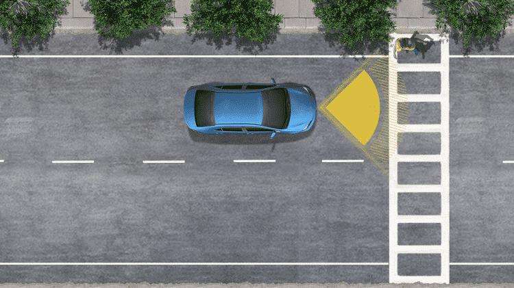 Frenagem autônoma com deteção de pedestres é de série em todas as versões do Corolla Cross nos EUA - Divulgação - Divulgação