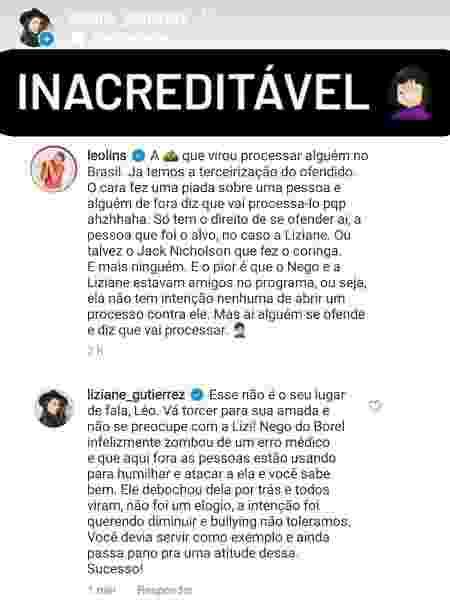 A Fazenda 2021: Equipe de Liziane rebate crítica de Léo Lins - Reprodução/Instagram - Reprodução/Instagram