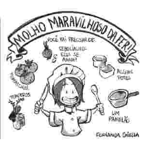 """Quadrinho de Fernanda Chiella para a coletânea em HQ """"Guia Culinário do Falido"""" - Reprodução"""