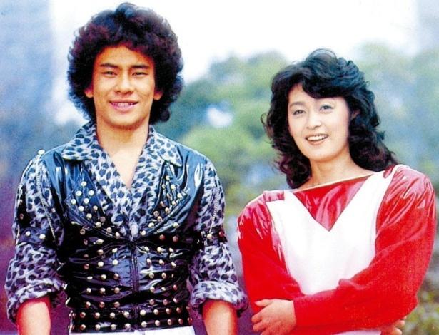 """Os atores Hikaru Kurosaki e Kyomi Tsukada em foto da série """"Jaspion"""" - Reprodução"""